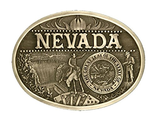 (Montana Silversmiths Men's Nevada State Heritage Attitude Belt Buckle Gold One Size)