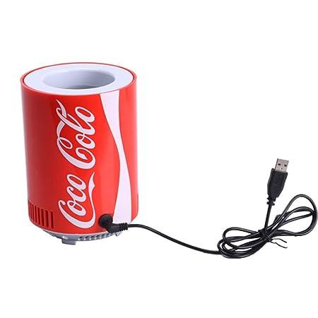 Weastion Refrigerador USB Mini Cola Congelador Refrigerador Tanque ...