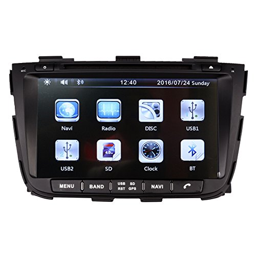8 Inch Touch Screen Car GPS Navigation for KIA SORENTO 2013-2016 Stereo DVD Player Video Radio Audio Bluetooth Steering Wheel Control AUX IN+Free Rear View Camera+Free GPS Map of USA