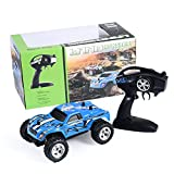 Rc Off Road Vehicle Model Electric 1:24 Children Model Toy K24-2 2.4G 15KM H High Speed Remote Control Car (Blue)