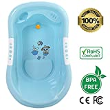 Best Baby Bath Tub and Toddler Infant Bath Large Made of Eco-Friendly BPA-Free Food Grade Material, Body Engineered with Anti Slip Surface and Comfortable Back Support, Safe for Boys & Girls!