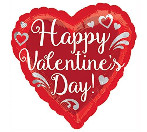 "Burton & Burton 4"" Happy Valentines Day Foil Balloon"