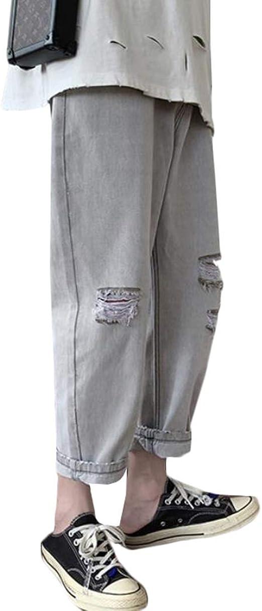 [BSCOOL]デニムパンツ メンズ ゆったり ワイドパンツ デニム ジーンズ ダメージ加工 ファッション ロングパンツ 韓国 ストリート系 ジーパン 大きいサイズ 夏