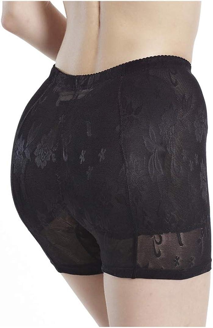 Body Shaper Butt Lifter Hip Enhancer Panties Woman Fake Ass Underwear Padded Panties Buttock Shaper,Black-S