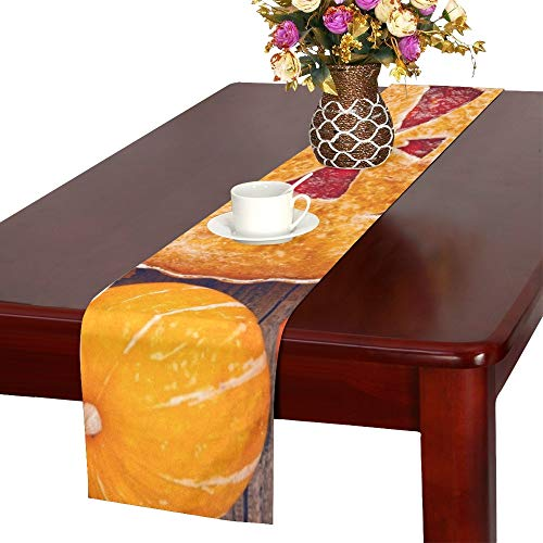 WUTMVING Delicious Homemade Pie Halloween Filling Pumpkinstrawberry Table Runner, Kitchen Dining Table Runner 16 X 72 Inch for Dinner Parties, Events, Decor]()