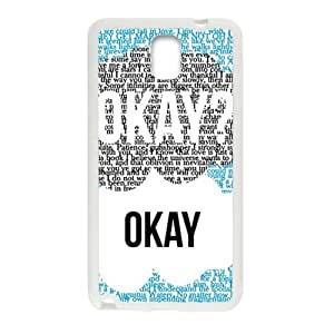 JIANADA The Fault in Our Stars Okay? Okay Printed Cell Phone Case for Samsung Galaxy Note3