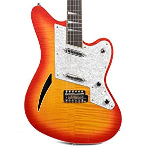 Eastwood Flying Wedge Deluxe Tremolo Vintage Cream - Guitar