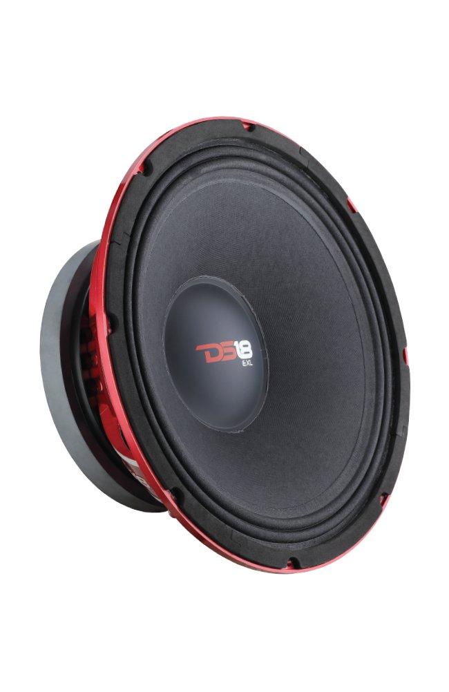 DS18 PRO-EXL124 Loudspeaker - 12'', Midrange, Red Aluminum Bullet, 1200W Max, 800W RMS, 4 Ohms, Ferrite Magnet - For the Peple Who Live and Breathe Car Audio (1 Speaker)
