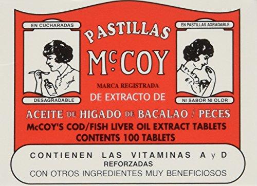 Pastillas McCoy Cod/Fish Liver Oil Extract Tablets 100 ea