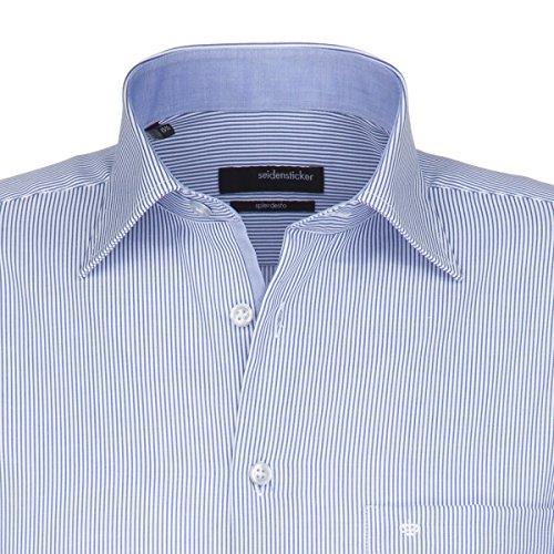 Diseño de seda camisa para hombre de corte normal Splendesto 1/1-Arm no necesita planchado 01,187906 blau (0013)