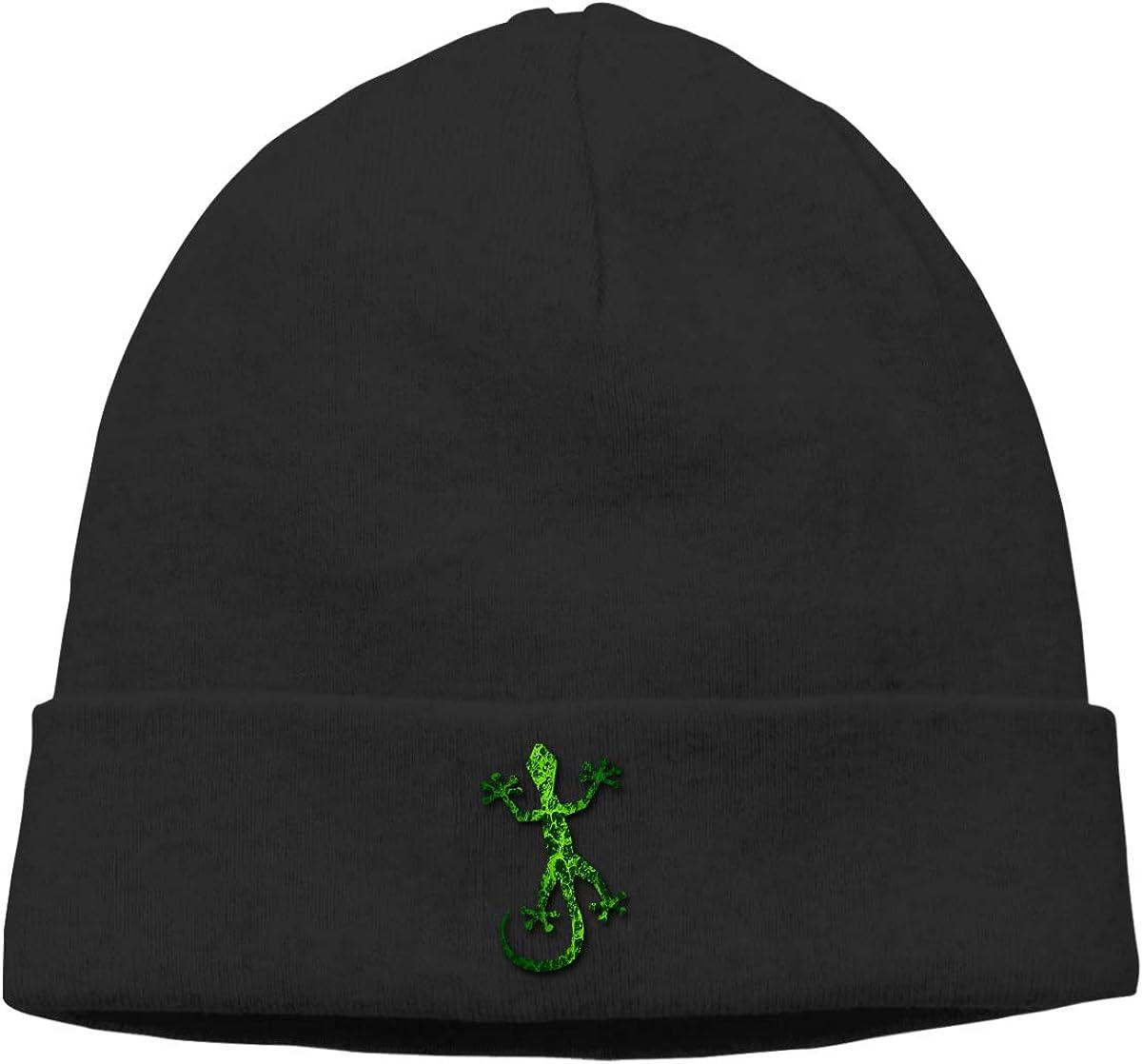 Riokk az Green Gecko Skull Caps Beanie Hat for Mens
