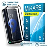 Galaxy S9 Screen Protector 3D Curved Tempered Glass, MiiKARE S9 HD Glass Screen Protector Case Friendly Front and Back Clear Full Adhesive Shield Glass Edge Screen Protector with Installation Tray