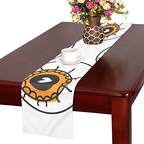 Halloween Allseeing Eyeball Beautiful Table Runner, Kitchen Dining Table Runner 16 X 72 Inch for Dinner Parties, Events, Decor -
