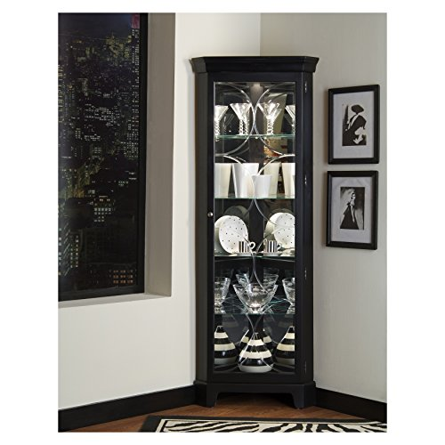Curio Cabinet Black Corner (Sofaweb.com Oxford Black Corner Curio Cabinet)