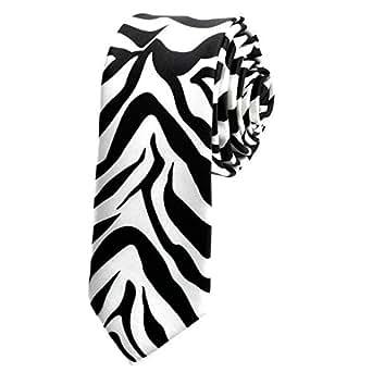 New Zebra Print Tie - Black / White