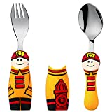 Eat4Fun Duo Collection Kids Fork & Spoon, Fireman