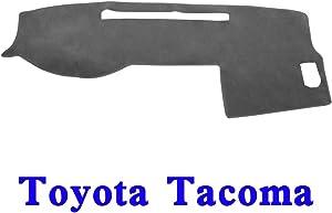 YRCP Anti-Slip Dashboard Covers Custom, Fit for 2005-2015 Toyota Tacoma, Dashmat Sun Dash Cover Pad (Grey)