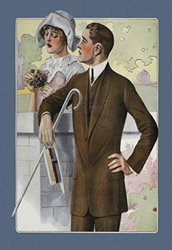 ArtParisienne Dapper Man and Maudlin Girl 12x18 Poster Semi-Gloss Heavy Stock Paper Print