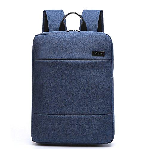 Mochila Negocio Backpack Escolar de Moda para Portátil de 15.6 pulgadas Trabajo Diario Para Hombre Mujer Estudiante 14L Negro Azul