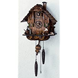 12 Quartz Cuckoo Clock with Owl and Squirrel