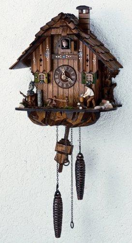 12 Quartz Cuckoo Clock with Owl and Squirrel