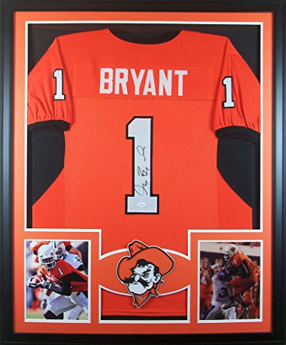 Dez Bryant Framed Jersey Signed JSA COA Autographed Oklahoma State Cowboys