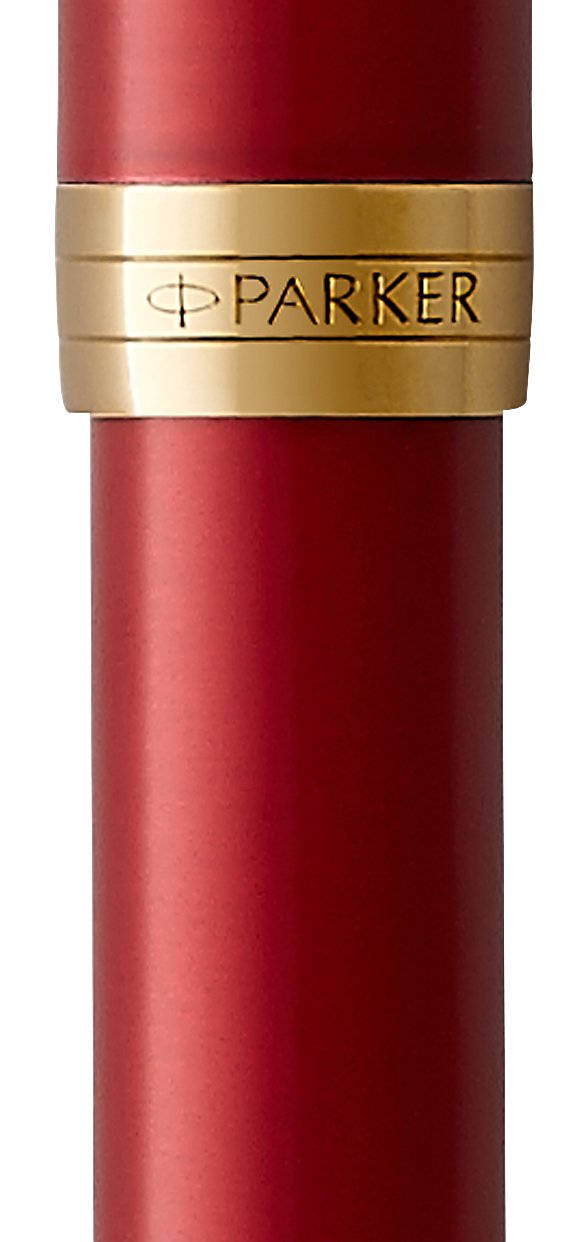 PARKER Sonnet Rollerball Pen, Red Lacquer with Gold Trim, Fine Point Black Ink (1931475) by Parker (Image #2)