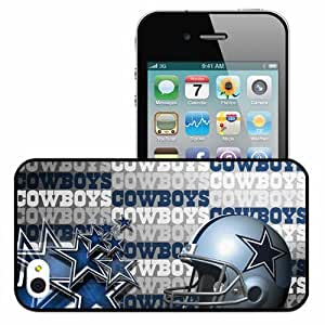 Personalized iPhone 4 4S Cell phone Case/Cover Skin 1662 dallas cowboys Black