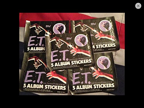 Topps E.T. Movie Stickers (5) Packs Lot 1982 Retro non-sport trading cards 80s from Topps