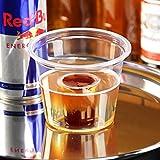 Wegwerfbare Snapsgläser aus Kunststoff, transparent, 85 ml, 50 Stück, Einweg-Schnapsgläser, 25 ml Gläser mit 60 ml Chaser, ideal für Red Bull und Jägermeister
