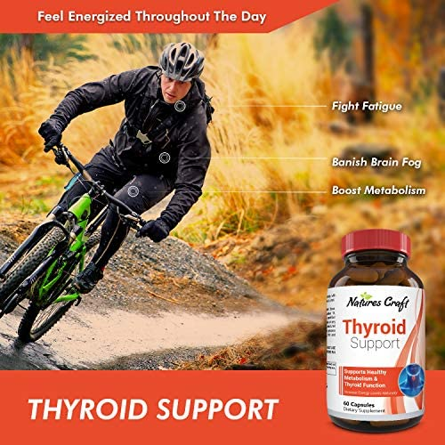 Thyroid Support Complex Blend Vitamin B12, Zinc, Copper, Selenium, Iodine Increase Metabolism and Energy Supplement for Men and Women Weight Control and Weight Loss Pills 6