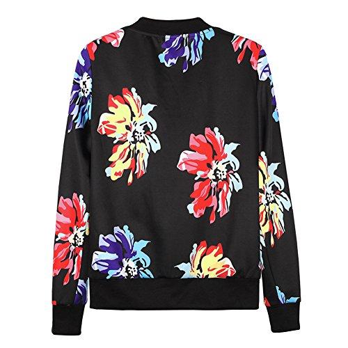 Indumenti Hibote Donna Camicette 2xl Base Cappotti Beige Bianco Moda Casual Abbigliamento Sfera Fiori Primavera Esterni Stampa M Nero Autunno Blu Giacche 1 Sportive 8dqqw1F