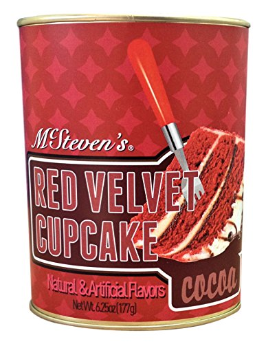 McSteven's - Red Velvet Cupcake Cocoa Drink Mix In Resealable Tin - 6.25 Oz (Drink Mix Cake)