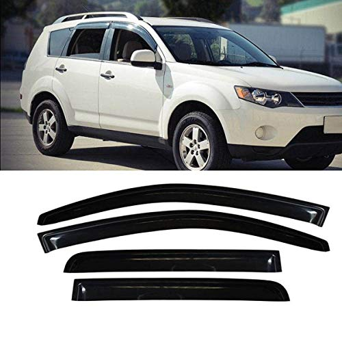 (Mgpro 4pcs For 2011-2018 Mitsubishi Outlander (Not Fit Outlander Sport Models) Smoke Deflector Sun Rain Guard Vent Shade Window)