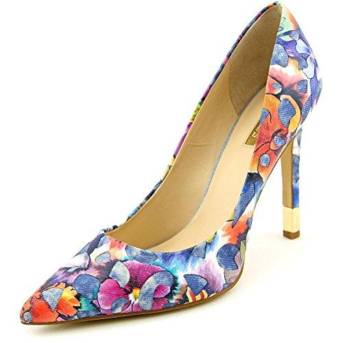 Guess Babbita3 Blue Multi Fabric Womens Heel Pumps Size 7M (Guess Men Dress Shoes)