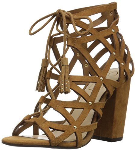Jessica Simpson Women's Kariba Dress Sandal, Honey Brown, 8.5 M US 51 2BQEODP4qL