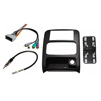 Double Din Dash Kit Aftermrket Radio Install Compatible with Jeep Liberty 2003-2007 with Premium Infiniti Sound Systems: Car Electronics