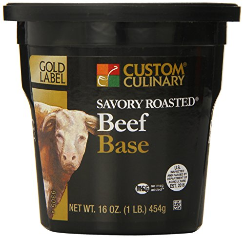 Custom Culinary Gold Label Base Savory, Roasted Beef, 1 Pound ()