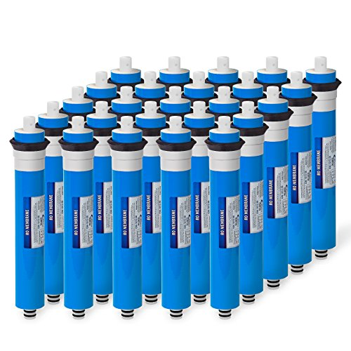 25 Pack 50 GPD Membrane Reverse Osmosis Universal Compatible Replacement (25 Gpd Ro System)