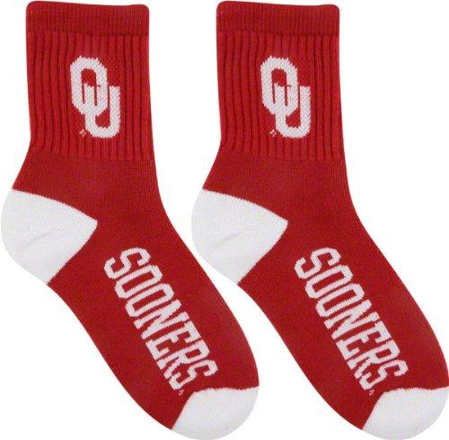 Oklahoma Sooners Team Color Quarter Socks