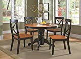 Home Styles  5-Piece Dining Set, Black and Cottage Oak Finish For Sale