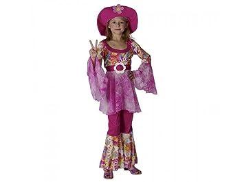 Disfraz niña Hippie - talla 6 - 8 años (120-130CM): Amazon.es ...