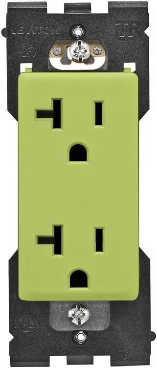 Leviton RER20-GS Renu Tamper-Resistant Outlet, 20-Amp, 125VAC, Granny Smith Apple