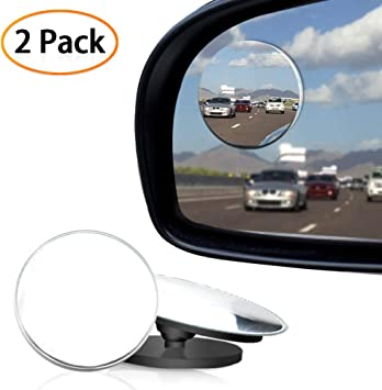 1x Blind Spot Mirror Adjustable Frameless Convex HD Glass Wide Angle Rear View