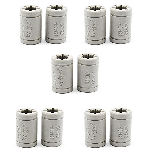 Replacement 10pcs 3D Printer Solid Polymer LM8UU Bearing 8mm Shaft - Igus Drylin RJ4JP-01-08