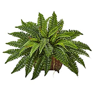 Nearly Natural 6933 Boston Fern in Metallic Planter 45