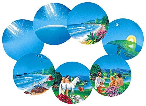 (Little Folk Visuals Creation Circles Precut Flannel/Felt Board Figures, 7 Pieces Set)