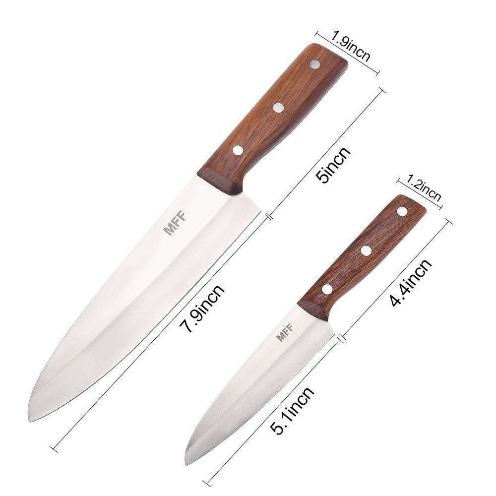 Amazon.com: Juego de cuchillos de cocina de 2 piezas ...