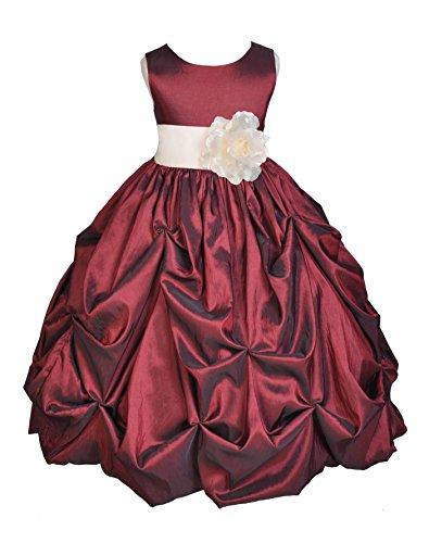 Zipper Taffeta Wedding Dress - 2