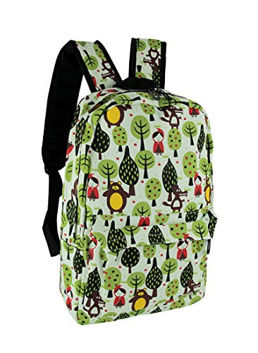 Things2Die4 Red Riding Hood Cute Forest Print Canvas Backpack]()